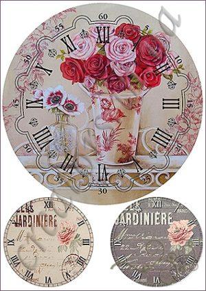 Декупажные карты для часов