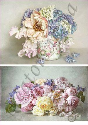 Декупажные карты цветы