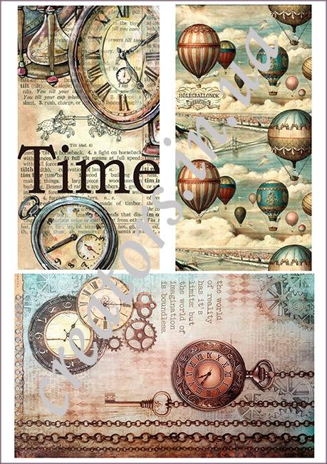 декупажная карта время путеществий