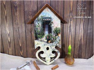 ключница домик с крышей