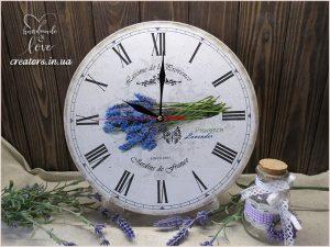 часы веточка лаванды