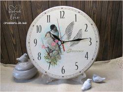часы пара птиц