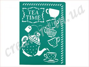 трафарет tea time