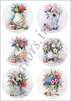 Декупажная карта цветы