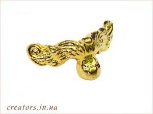 металлическая ножка золото