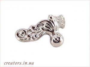 металлическая ножка серебро