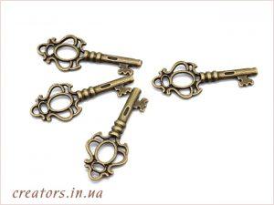 подвеска ключик для декупажа
