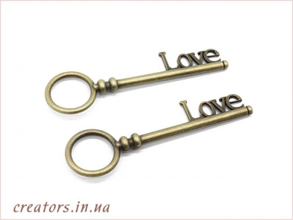 подвеска ключ LOVE