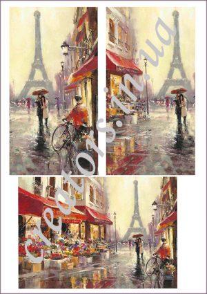 декупажная карта париж