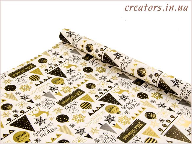 упаковочная новогодняя бумага
