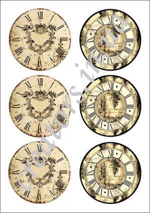 декупажные карты часы