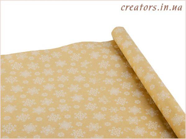 крафт бумага снежинки