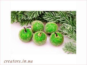 засахаренные яблоки зеленые