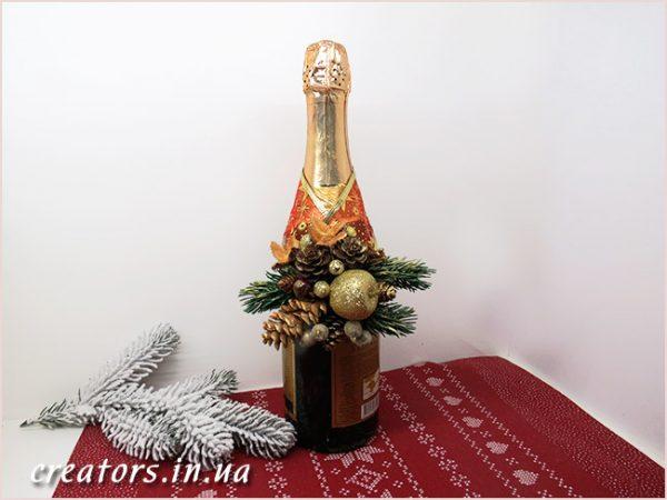 бутоньерка на шампанское